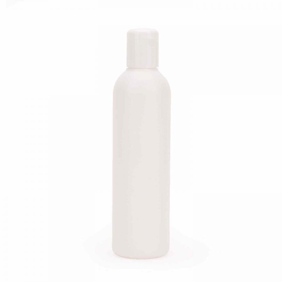 PE bottle white, with snap lid