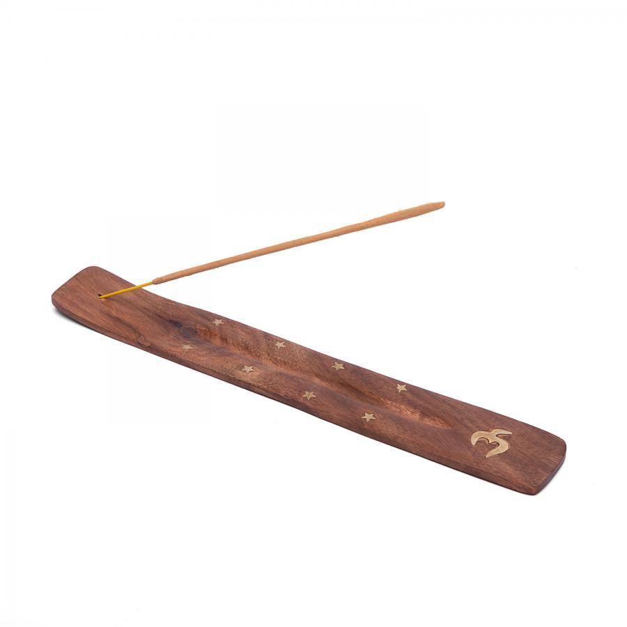 Räucherstäbchen-Halter, Schiffchen aus Holz OM