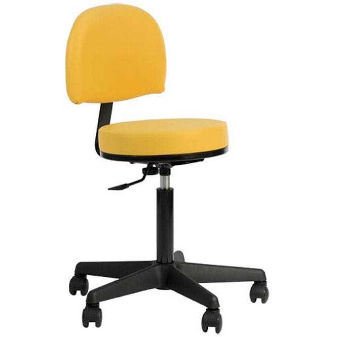 Oakworks Swivel Stool with backrest