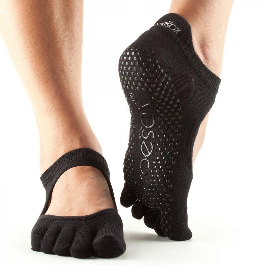 ToeSox Full-Toe Bellarina Black size S