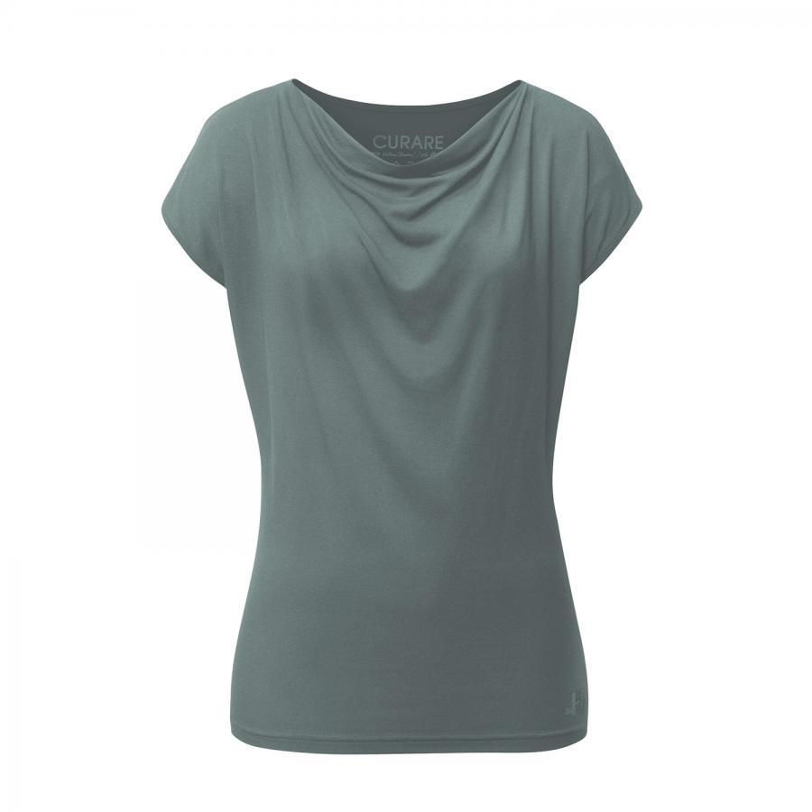 CURARE t-shirt à col drapé, bleu eucalyptus