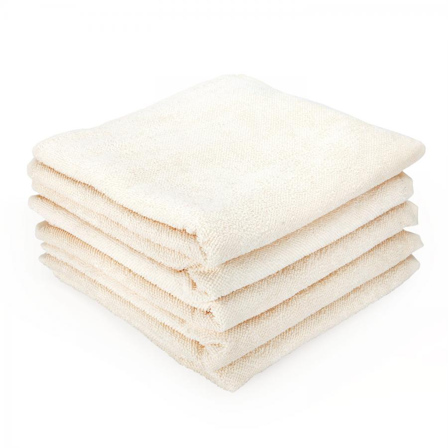 wuwei Frottee Handtuch ecru | 5x Handtuch 50 x 100 cm