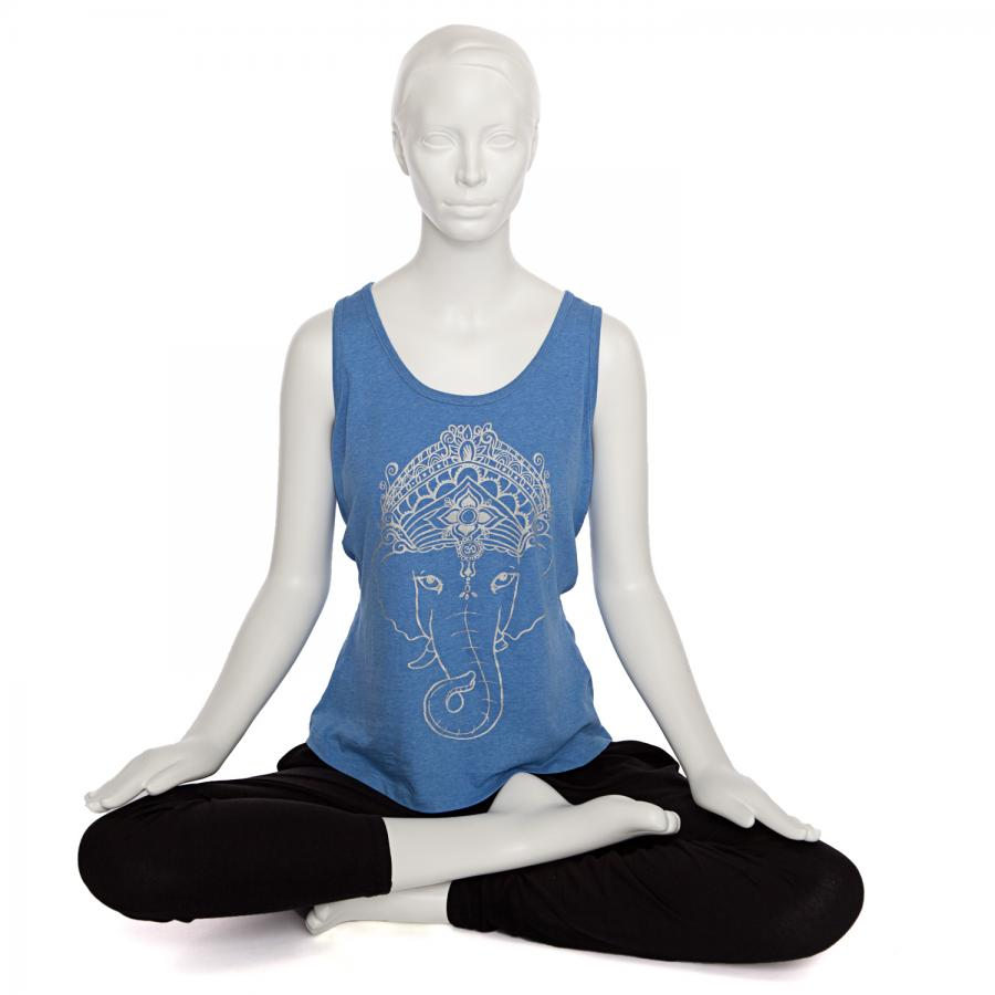 Bodhi Womens Tank Top - GANESHA, blue S