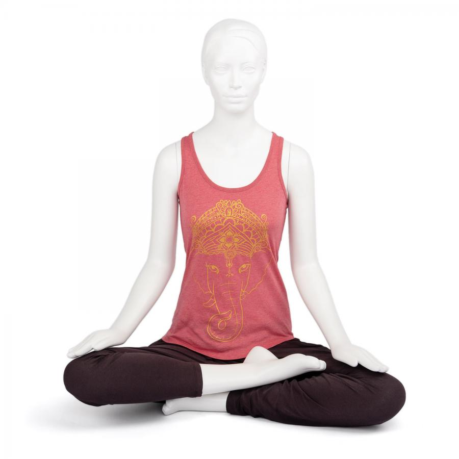 Bodhi Womens Tank Top, Ganesha, cranberry