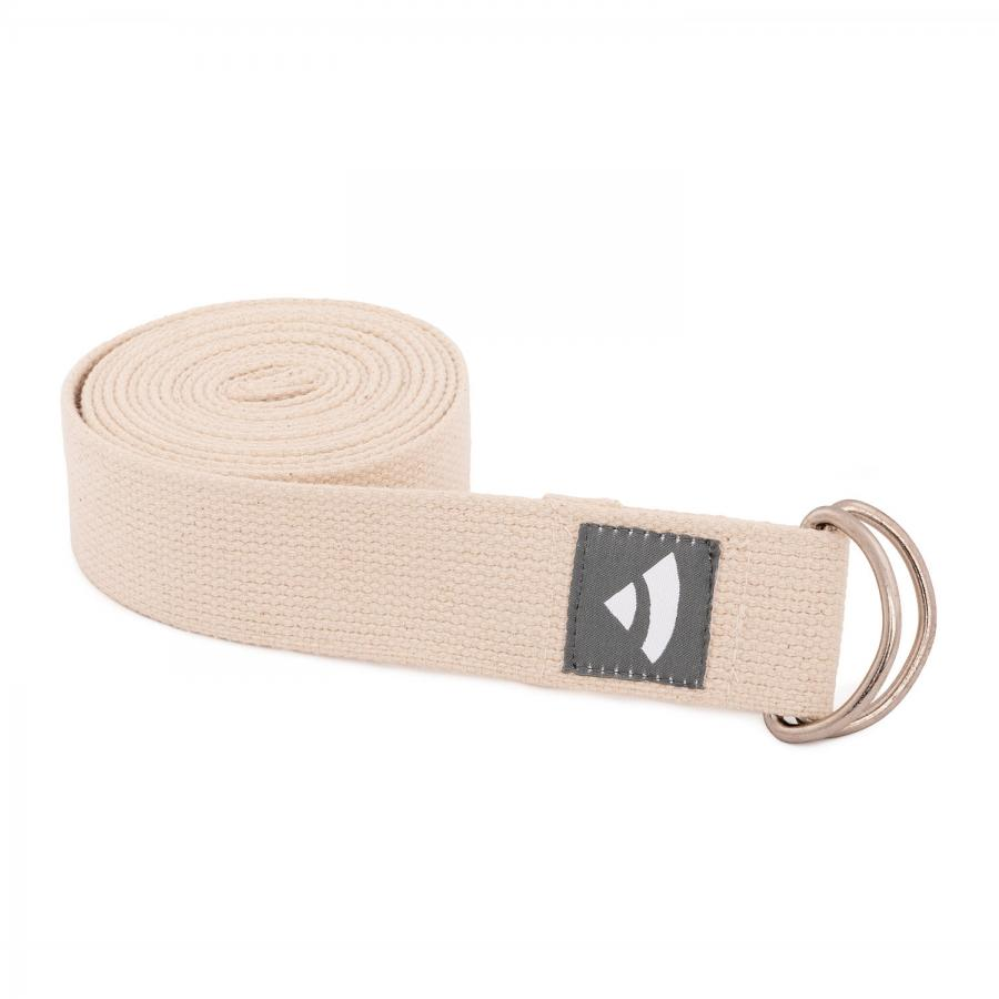 Yogagurt mit D-Ring ASANA BELT 2,5m, Metall natur