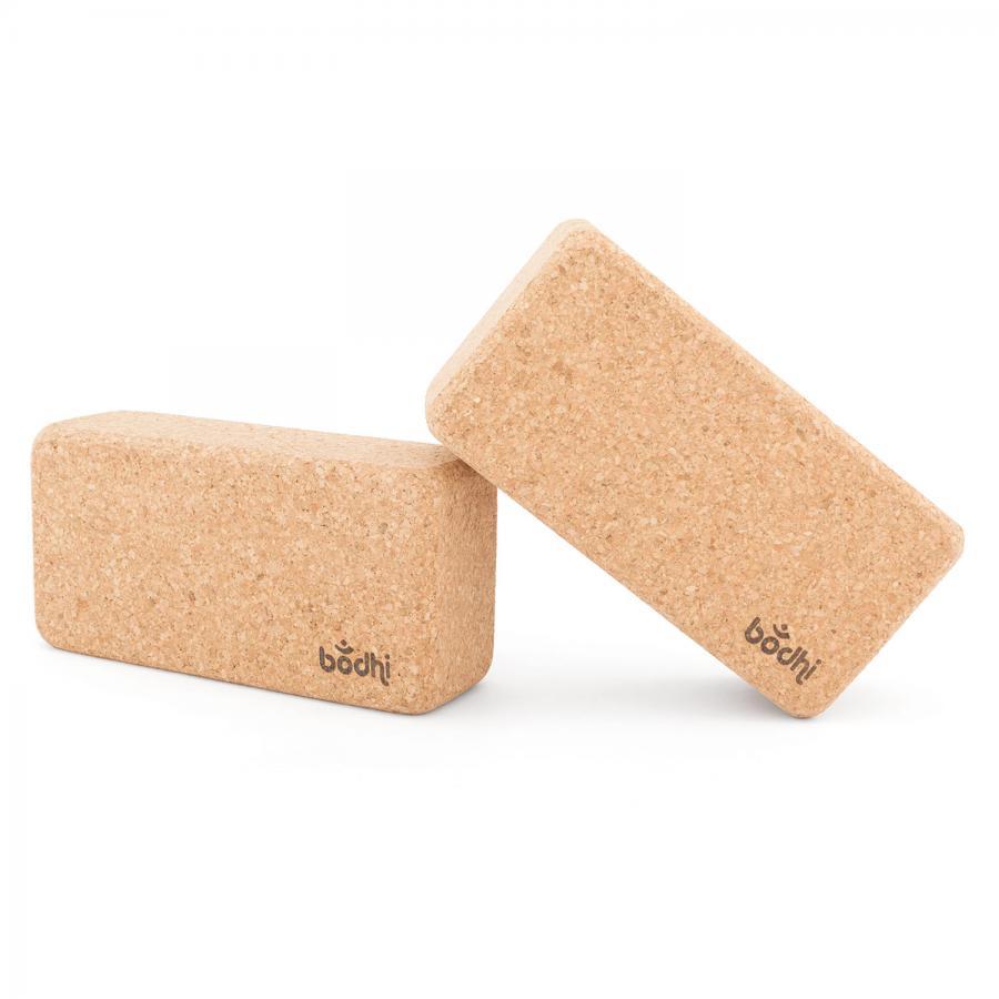 Brique en liège pour le yoga, taille standard set (2 pièces)