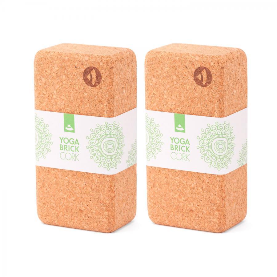 Yoga Block KORK BRICK, Standard Set (2 Stück)