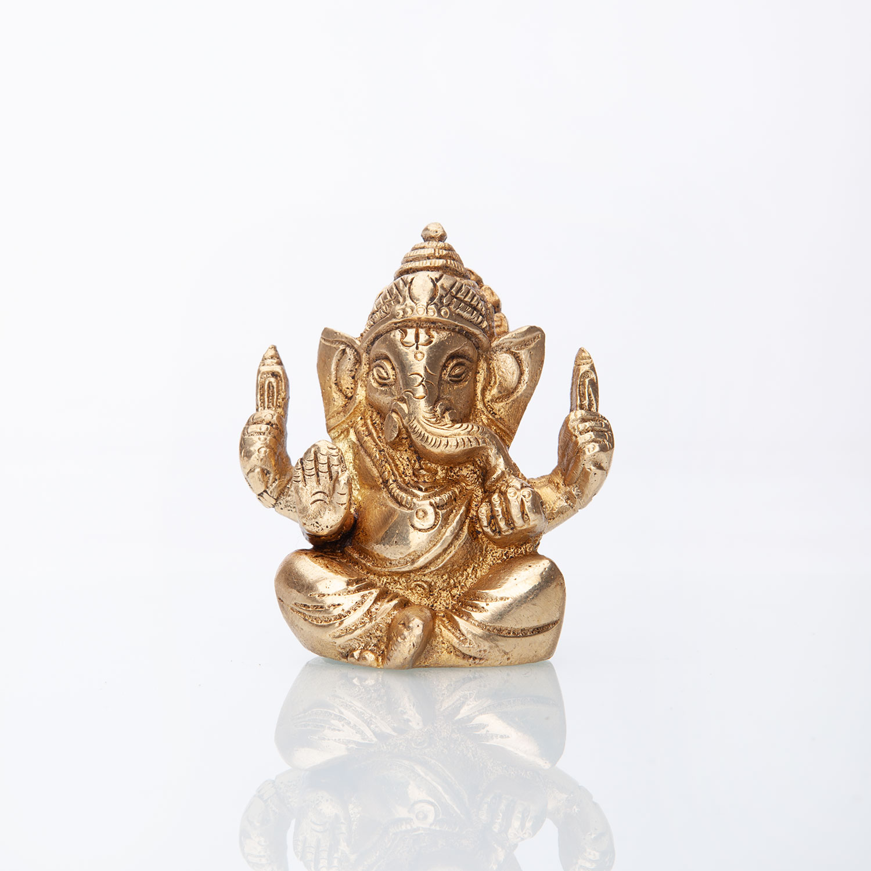 Bodynova Ganesha Brass Statue Approx 7 Cm Yogamatten Bodhi Hot Stones Meditationskissen Shiatsu Matten